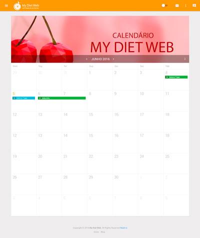 agenda simples e organizada My Diet Web